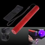 SHARP EAGLE Suit 1 200mW 405nm Starry Sky Style Purple Light Waterproof Aluminum Laser Pointer Matchstick Cigarette Lighter Red>