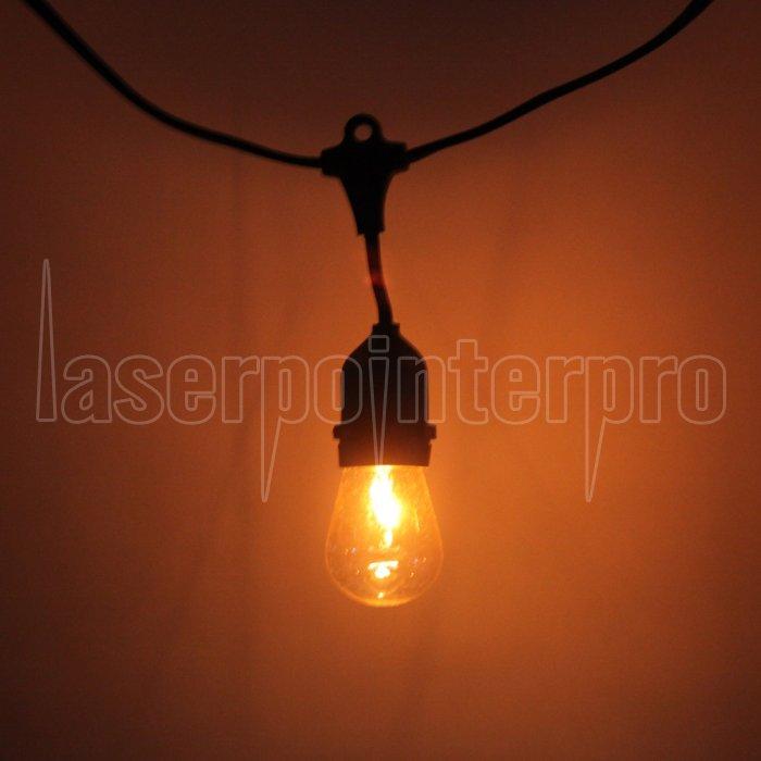 S14 24pcs Glühbirne Außen Yard Lampe String Light mit schwarzer ...
