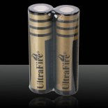 2Pcs UltraFire 18650 4000mAh 3.6-4.2V Flat Head Lithium Batteries Black