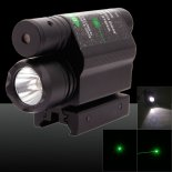 2-in-1 Profi-5mW 650nm Green Light Ein-Punkt-Art-Zoomable Laser-Zeiger-Feder-Schwarz>