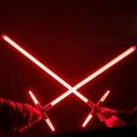 "Simulation Star Wars Cross 47"" Lightsaber Sound Effect Style Red Light Metal Laser Sword Wine Red"