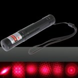 5mW Dot Pattern / Starry Padrão / Multi Patterns Foco Red Light Laser Pointer Pen prata>
