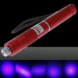 500mW Focus Starry Pattern Blue Light Laser Pointer Pen Red