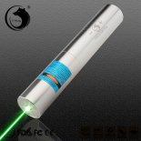 UKING ZQ-j10L 5000mW 520nm Pure Green Poutre Single Point Pointeur Laser zoomables Pen Kit Chrome Placage