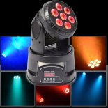 100W 7-LED RGBW Auto / Control de sonido DMX512 Rotary Stage Lighting Negro