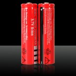 3.7V 3000mAh UltraFire 18650 Li-ion ricaricabile Red>