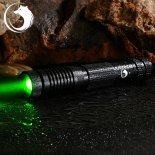 UKing ZQ-012L 200mW 532nm feixe verde 4-Mode Zoomable Laser Pointer Pen Kit Preto>