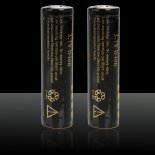 2pcs Ultrafire 18650 4000mAh 3.6-4.2V batteries rechargeables au lithium Noir>