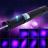 450nm 1500mW Five Head Blue Light Laser Scope Black>