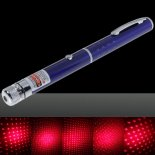 100mW Middle Open Starry Pattern Red Light Naked Laser Pointer Pen Blue>