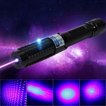 2000MW 450nm 5-en-1 Blue Beam Lumière pointeur laser Pen Kit Black