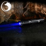 U`King ZQ-012B 450nm 1000mW One Mode Waterproof Crude Linear Spot Style Blue Light Aluminum Alloy Laser Pointer Kit Black