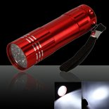 Red 3W 9 Super Bright LED Flashlight Lanterna Eléctrica