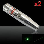 2Pcs 5mW 532nm Green Laser Pointer