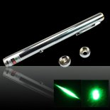 100mW 532nm Open-volta Aço Green Laser Pointer>