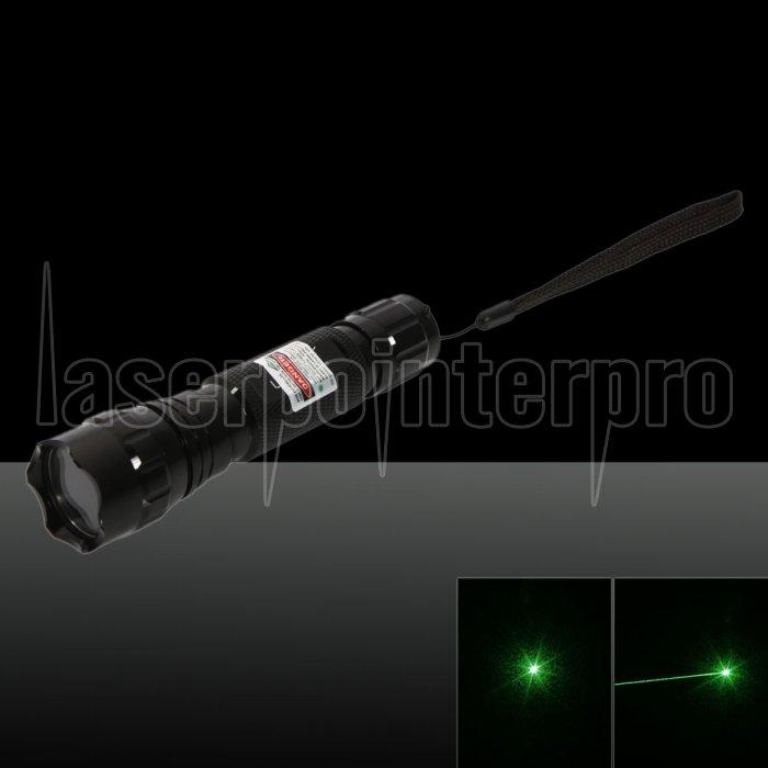 Pointeur laser vert 500mW 532nm avec batterie et chargeur noir ...