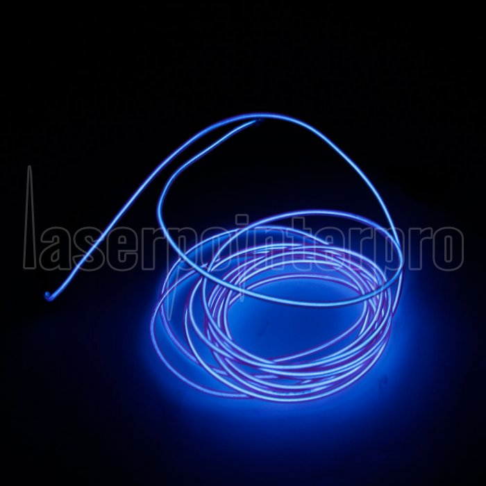 Led Flexible Lamp 3m 2 3mm Steel Wire Rope Strip With Controller Purple