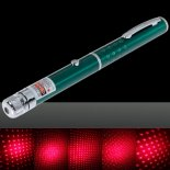 100mW Middle Open Starry Pattern Red Light Naked Laser Pointer Pen Green>