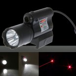 5MW LED Flashlight and Beam Light Red Laser Scope Group