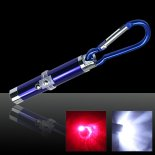 2 em 1 5mW 650nm Red Laser Pointer Pen Blue (Red Lasers + lanterna LED)>
