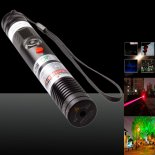 1000mw 650nm High Power Handheld rotem Laserstrahl Laserpointer mit Laser-Köpfe / Keys / Safety Lock / Akku Schwarz