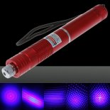 2000mW Focus Starry Pattern Pure Blue Light Laser Pointer Pen with 18650 Rechargeable Battery Red>