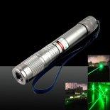 50MW Burning 532nm Waterproof Green Laser Pointer Pen Silver