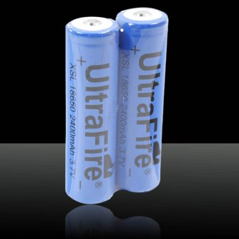 1pcs ULTRAFIRE 18650 3.7V 2400mAh Batteries Blue