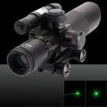 Multifunctional Battery-operated 2.5-10X Magnification 532nm 5mW Green Beam Rifle Scope with Laser Sight Black