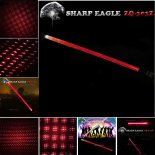 SHARP EAGLE ZQ-303Z 200mW 650nm Red Light Cigarette impermeabile di alluminio e Matchstick Accendino Laser Sword nero>