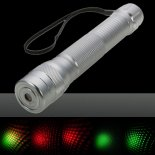 5mW New Style Red & Green Light Laser Pointer with Box (A 18652 Battery) Silver>