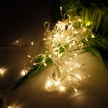 10M 100-LED Christmas Festivals Decoration 8 Working Modes Warm White Light Waterproof String Light (US Standard Plug)>
