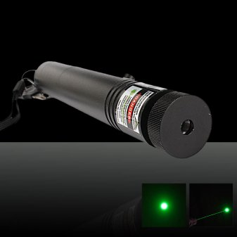 TSF-302 230mW 532nm Adjust Focus Flashlight Style Green Laser Pointer Pen Black (included one 18650 2200mAh 3.7V)