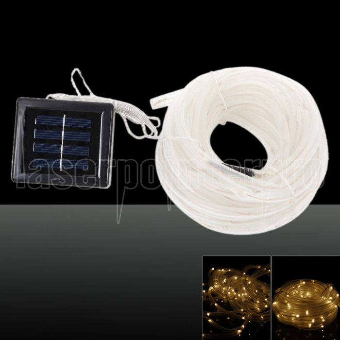 Solar Led String Lights Warm White : Waterproof 100LED Solar Power Warm White LED String Light - Laserpointerpro.com
