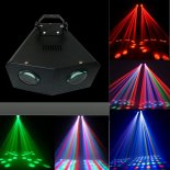 UKing ZQ-B32 128 Beads 16 Kinds of Pattern Self-propelled DMX512 LED Stage Light Black>