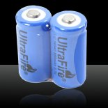 1pcs ULTRAFIRE LC16340 3.7V 880mAh Rechargeable Battery Deep Blue>