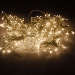 3M x 3M 300-LED Warm White Light Romantic Christmas Wedding Outdoor Decoration Curtain String Light (110V) EU Standard Plug>