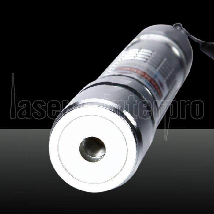 300mw Burning Purple Beam Light Laser Pointer Pen Silver
