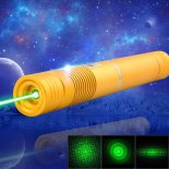1000mW 532nm Green Beam Light Focusing Portable Laser Pointer Pen with Strap Golden LT-HJG0084>