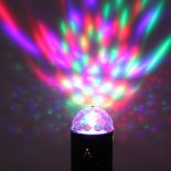 LED RGB Voice Control Rotating Disco Stage Light Black