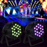 UKing ZQ-B35 240W 18-LED 4-in-1 RGBW Light Sound Control Auto DMX512 Master-slave Synchronization Modes Stage Light Black>