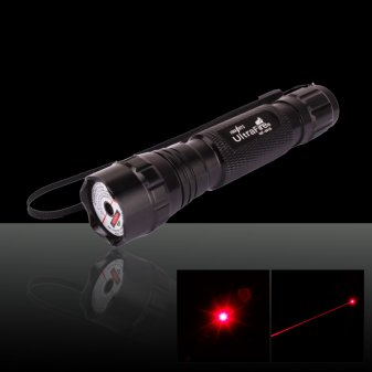 50mW 650nm Flashlight Style 501B Type Red Laser Pointer Pen with 16340 Battery