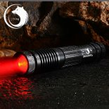 U`King ZQ-012A 638nm 300mW One Mode Waterproof Crude Linear Spot Style Red Light Aluminum Alloy Laser Pointer Kit Black