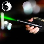 U`King ZQ-012 532nm 300mW One Mode Waterproof Crude Linear Spot Style Green Light Aluminum Alloy Laser Pointer Kit Black>