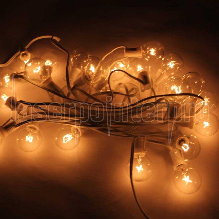 G40 25-LED Glühbirne Außen Yard Lampe String Light mit White Lamp ...