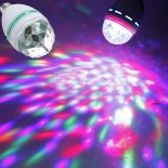 3W Rotary Colorful Crystal LED Bulb Domestic Stage Lighting White