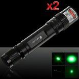 2Pcs 50mW 532nm di alto potere della torcia elettrica Style puntatore laser verde>                                                   </a>                                               </div>                                               <div class=