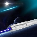50000mw 450nm 5 in 1 Burning High Power Blue Laser pointer kits Silver>