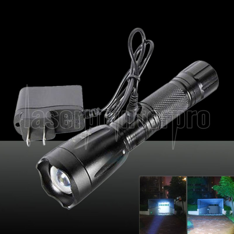 2200lm Led Rechargeable Flashlight Torch With Charger