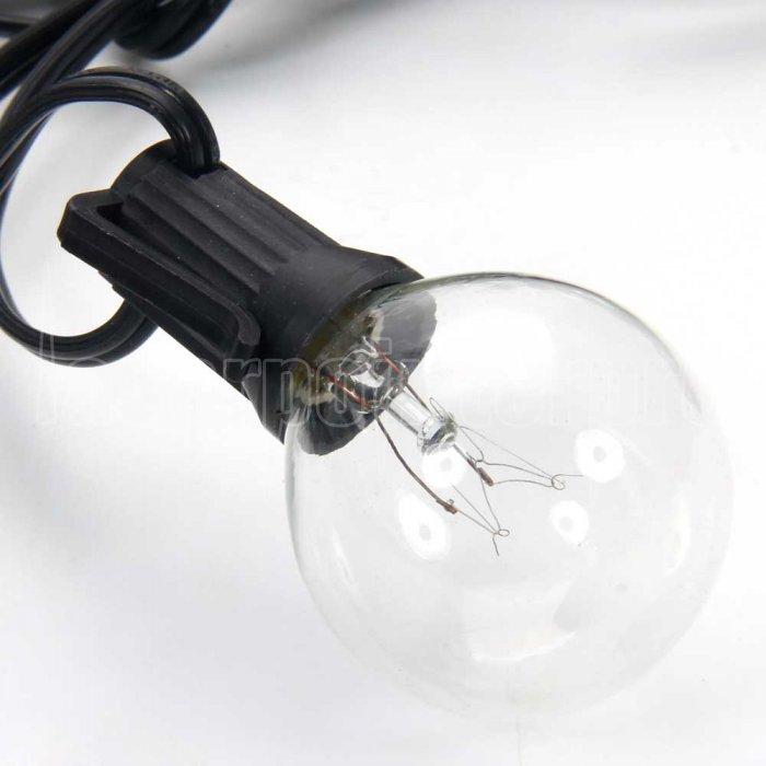 g40 25 led gl hlampe au en yard lampen schnur licht mit schwarz lampe draht transparent silver. Black Bedroom Furniture Sets. Home Design Ideas